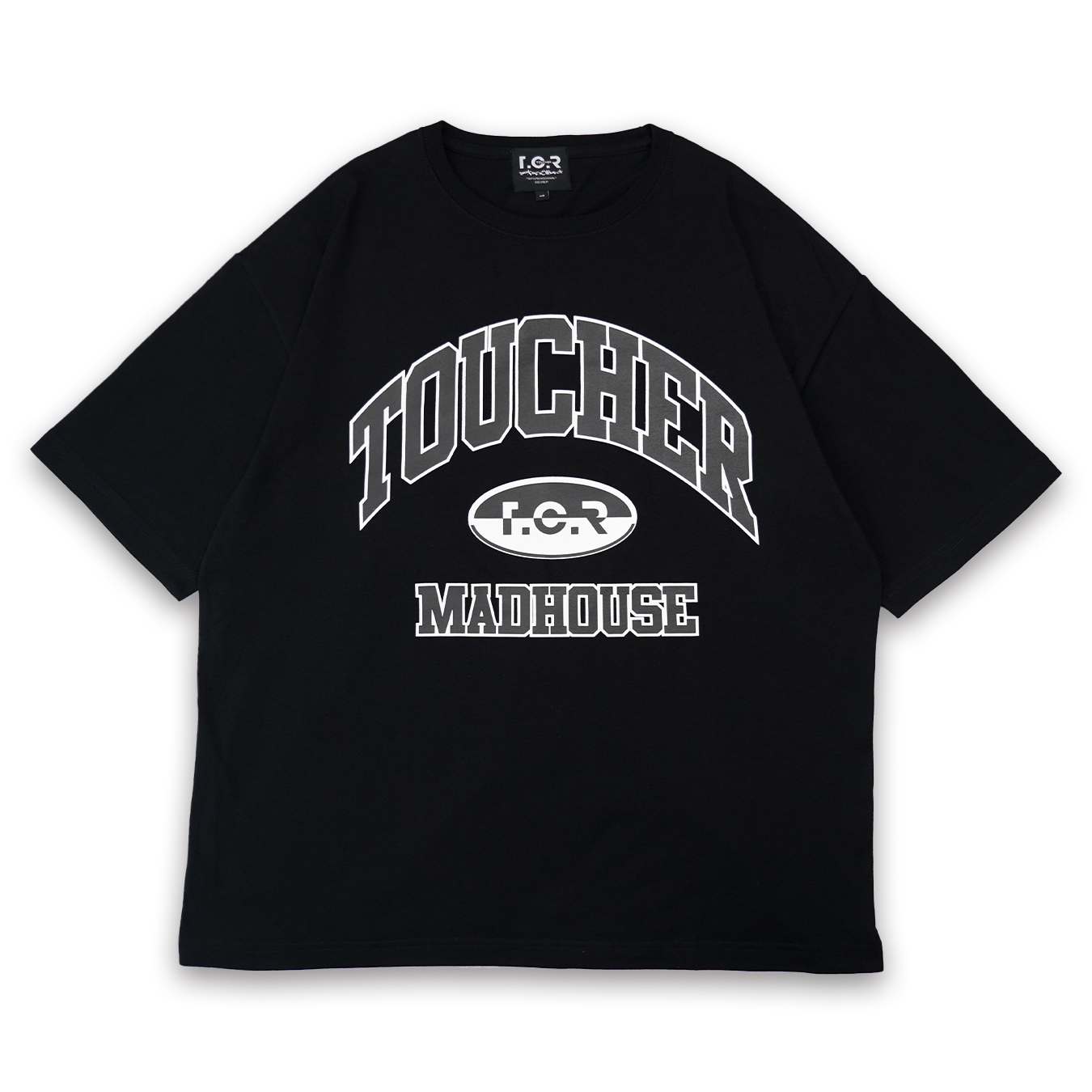 T.C.R MADHOUSE S/S TEE - BLACK / WHITE
