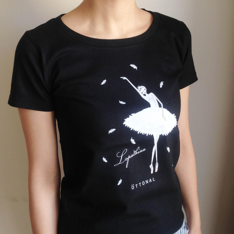 (即日発送・S/L完売)★ロパートキナコラボ★ 瀕死の白鳥Tシャツ(レディース) - 画像5