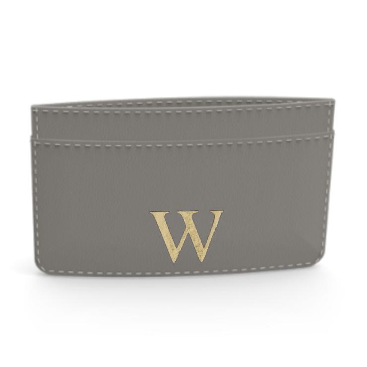 Premium Smooth Leather Card Case (Concrete Grey)
