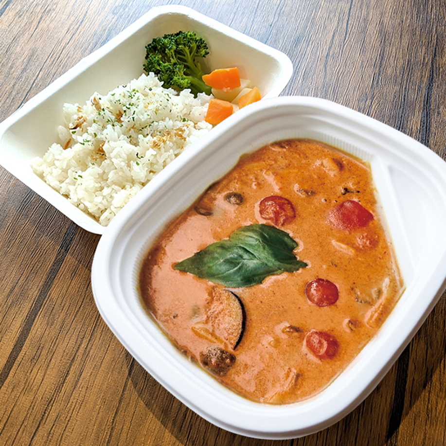 [ お弁当 ] レッドカレー / Red Curry / 紅咖哩便當