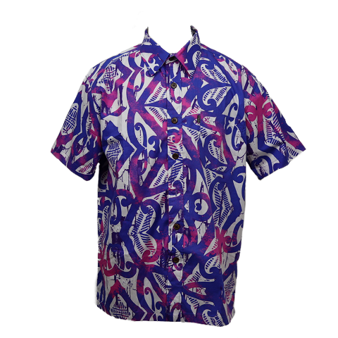 Aloha Shirt 2019 Purple × White