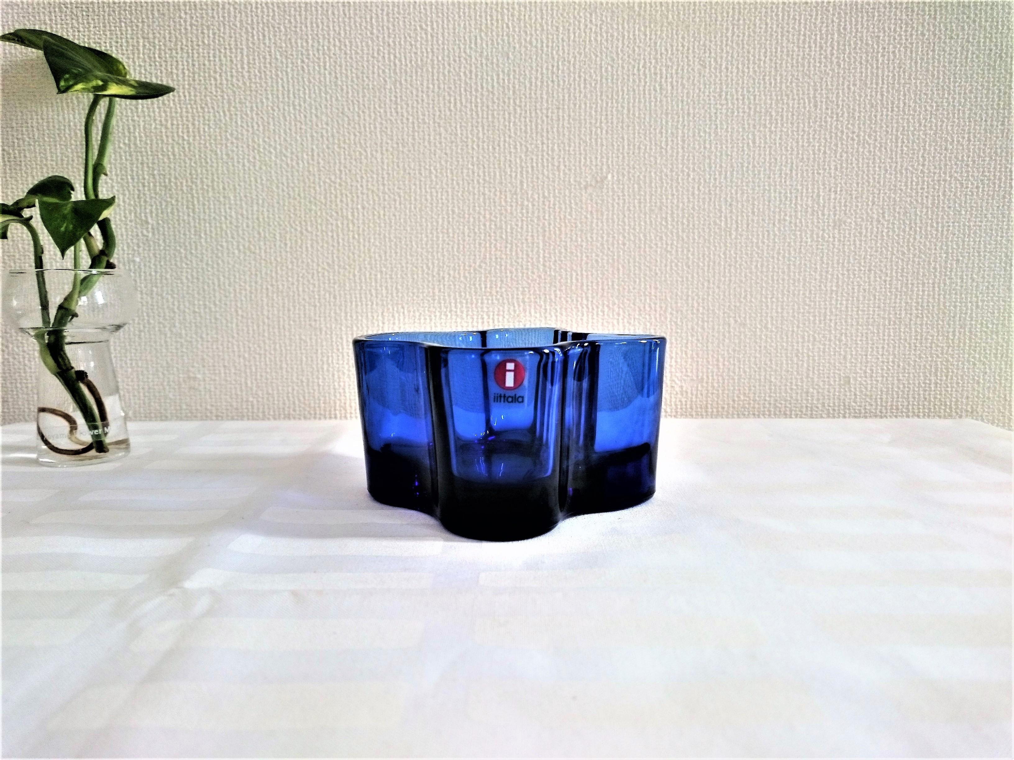 [廃盤]キャンドルホルダー / イッタラ / Alvar Aalto Collection 55mm(ウルトラマリンブルー)
