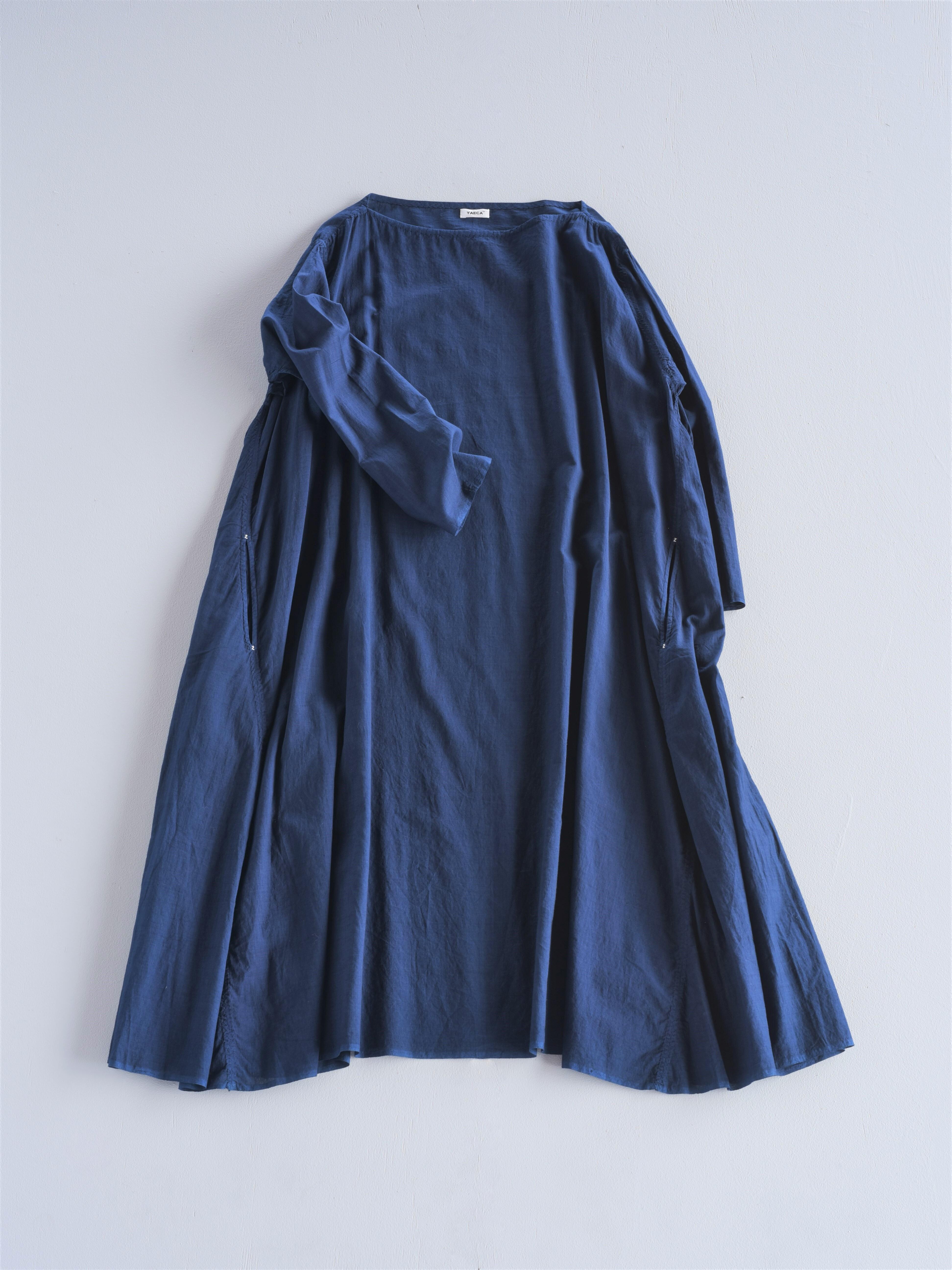 YAECA khadi フレアドレスmedium indigo 本藍