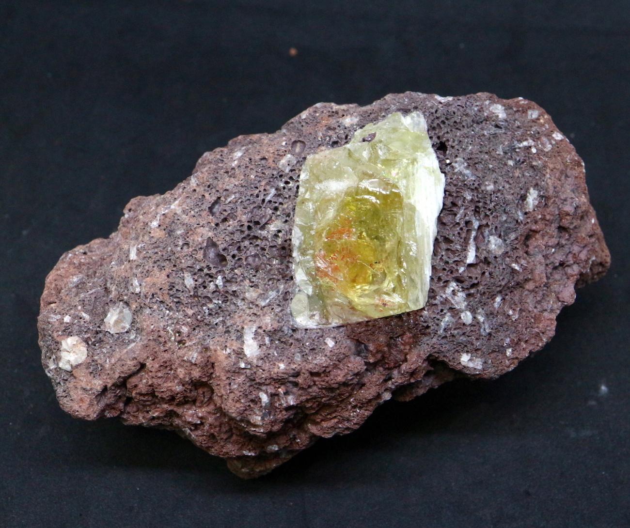 オレゴン サンストーン 母岩付き! 221g SUN025  鉱物 天然石 原石