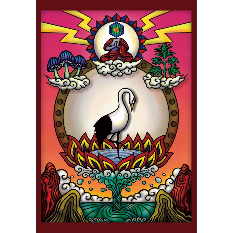 ポストカード『瞑想鶴』