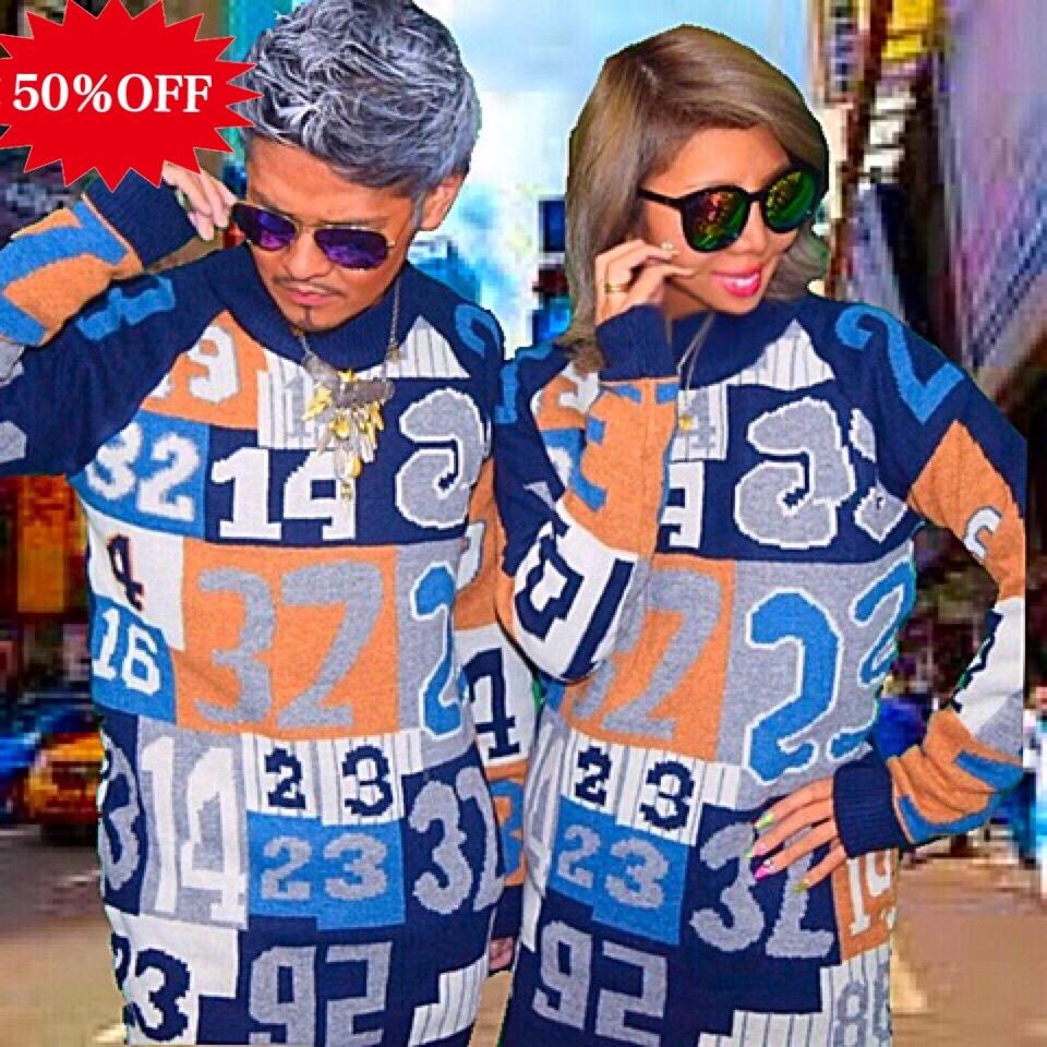 【50%OFF】Bgnee's select ナンバリングロングニット 12.960円→