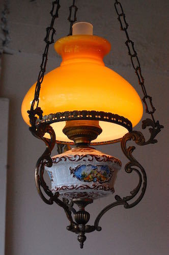 Antique Italian Ceiling Lamp (Oil Lamp Style)