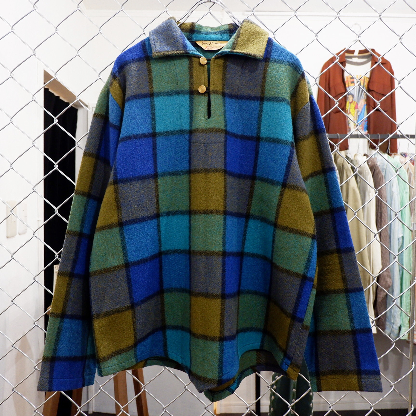 アメリカ古着 1960s USA製 vintage  ウール プルオーバージャケット