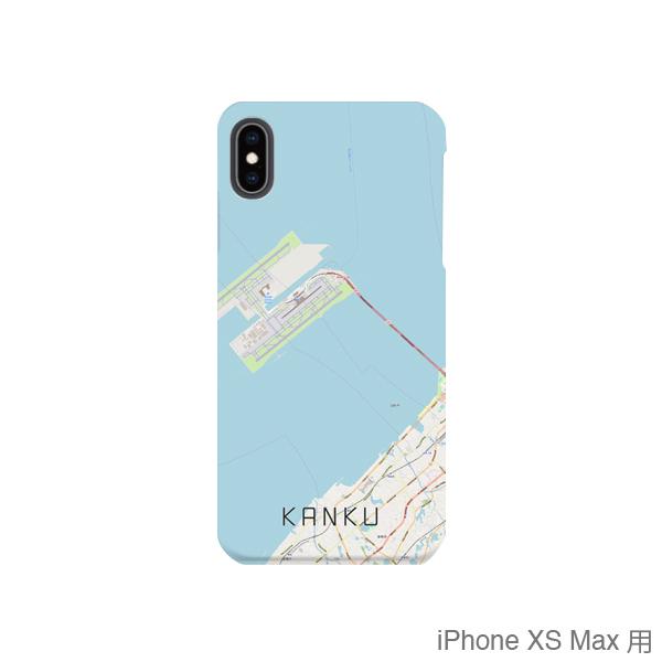 【関空】地図柄iPhoneケース(バックカバータイプ・ナチュラル)
