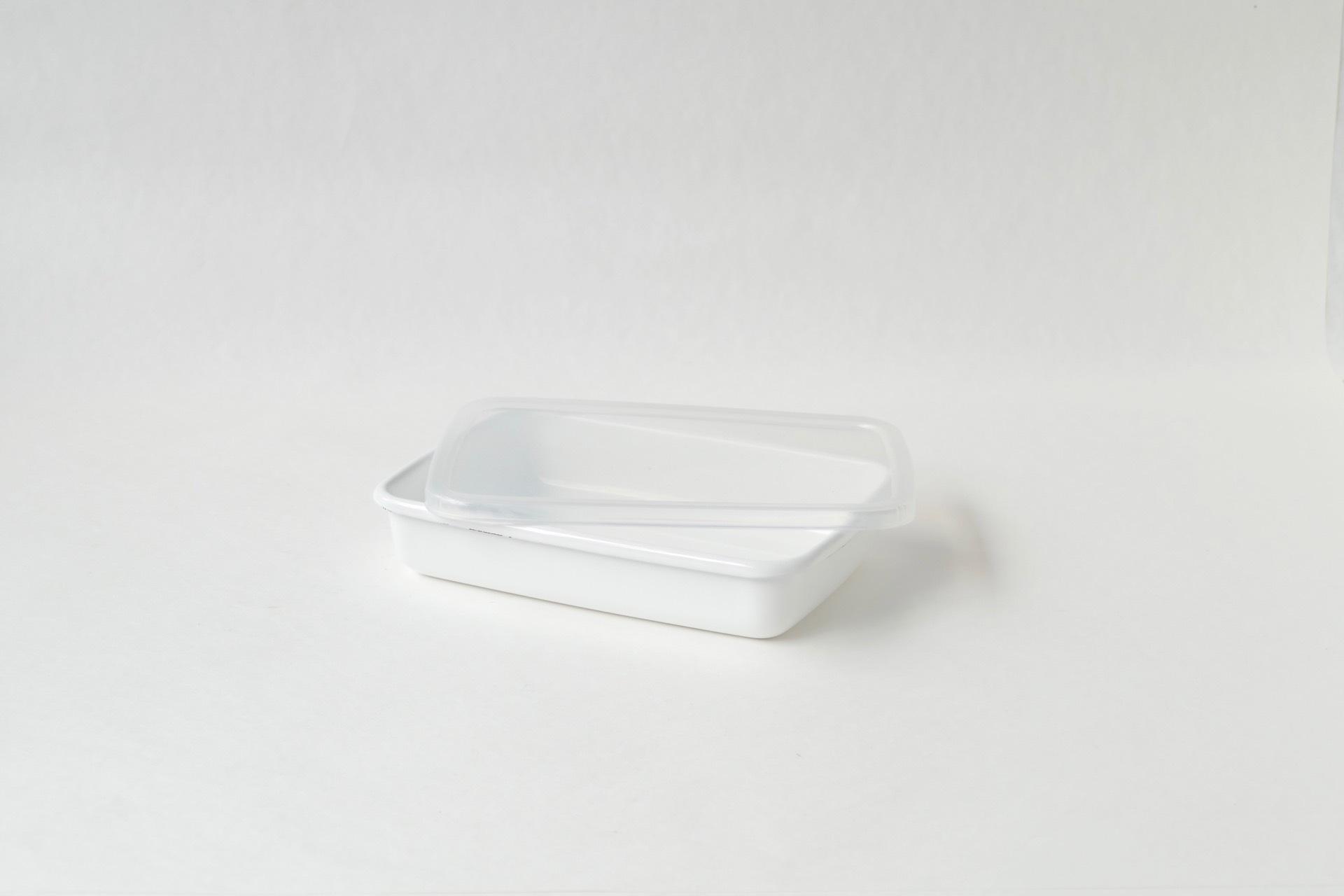 野田琺瑯 レクタングル浅型S シール蓋つき
