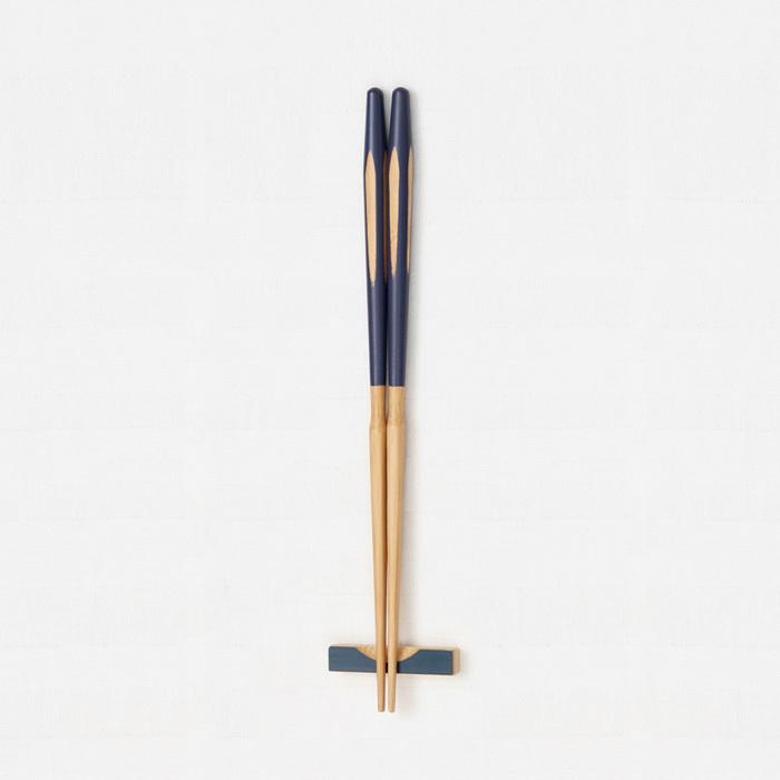 エレガントカット箸(紫) 【45-042】