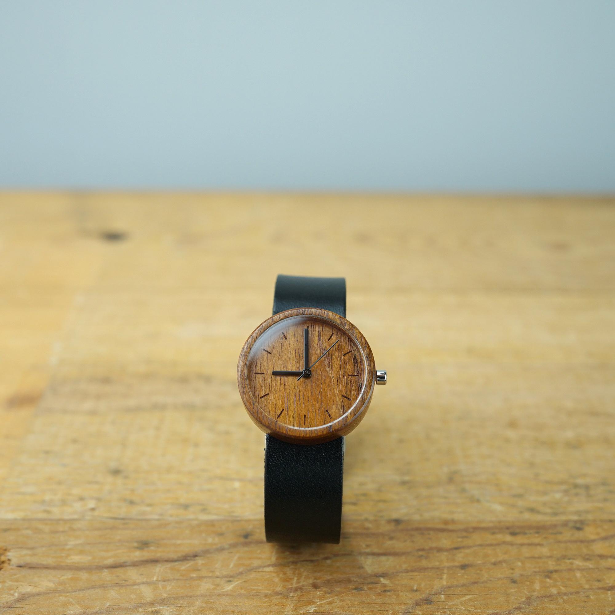 Teak wood - Japanese leather - M