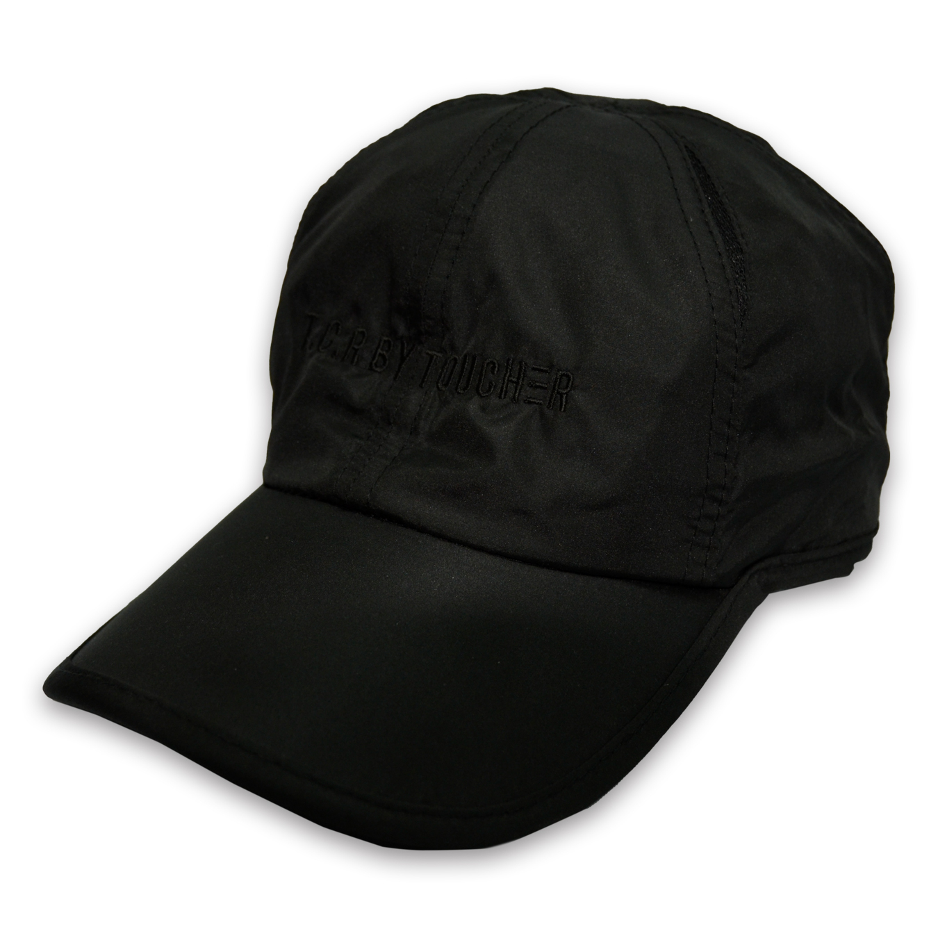 T.C.R LOGO SPORTS SHELL CAP - BLACK/BLACK