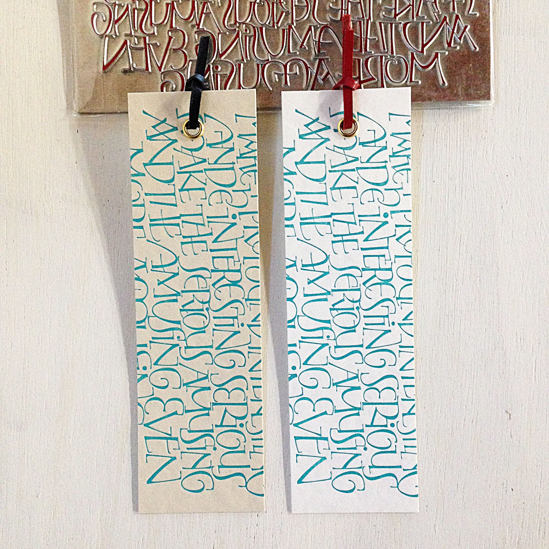 Letterpressed bookmarks  (活版しおり/2枚1セット)