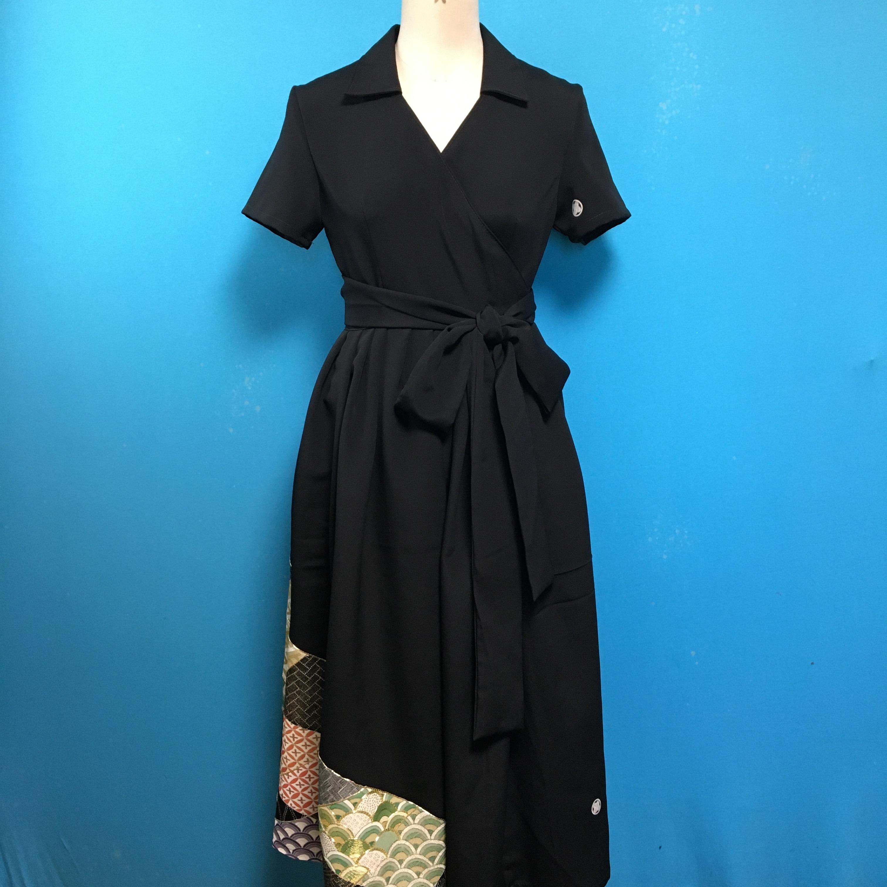 Vintage 留袖 ラップドレス US6