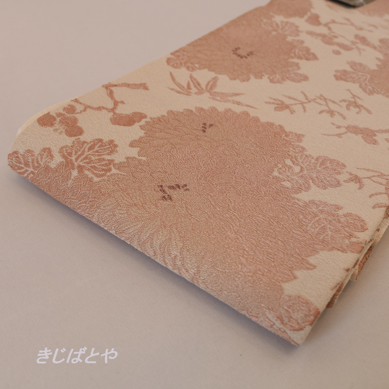 【N様ご予約品】桐生織 ピンクベージュの半幅帯