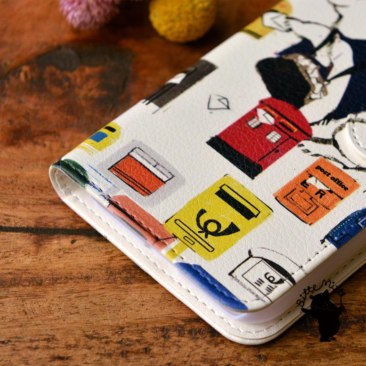 【訳あり】スマホケース iphone8 手帳型 おしゃれ iphone8 カバー ケース 手帳型 iphone7 ケース おしゃれ 手帳 白くま シロクマ クルトの配達/Bitte Mitte!【bm-iph8t-08029-B1】