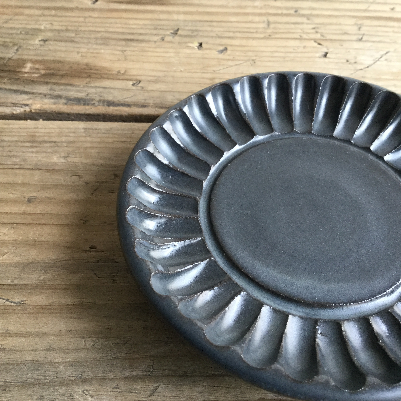 【大内瑤子】豆皿 青鈍  約φ9.5cm - 画像2