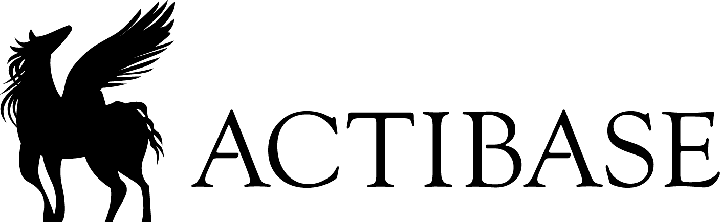 ACTIBASE透明ステッカー3x10【黒】