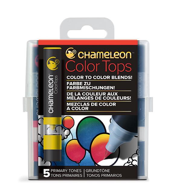 Chameleon Pen 5 Color Tops Primary Set (カメレオンペン 5本入りカラートップ プライマリーセット)