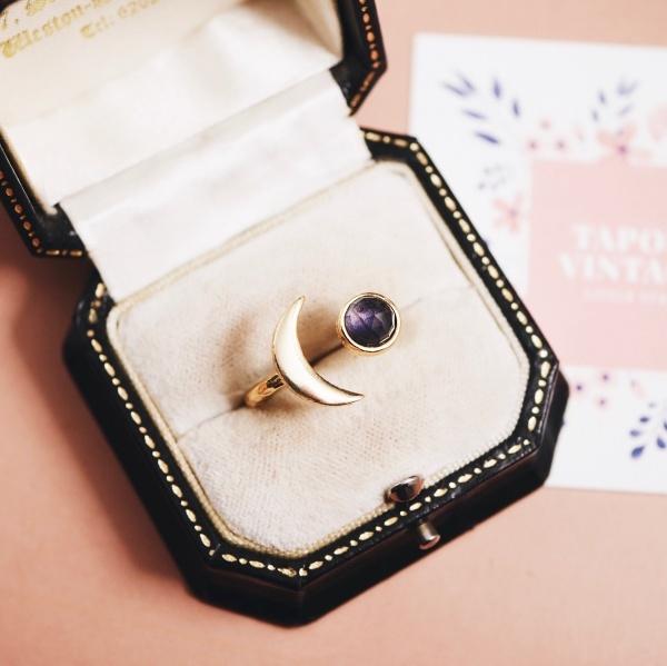 アイオライト 月と星の指輪