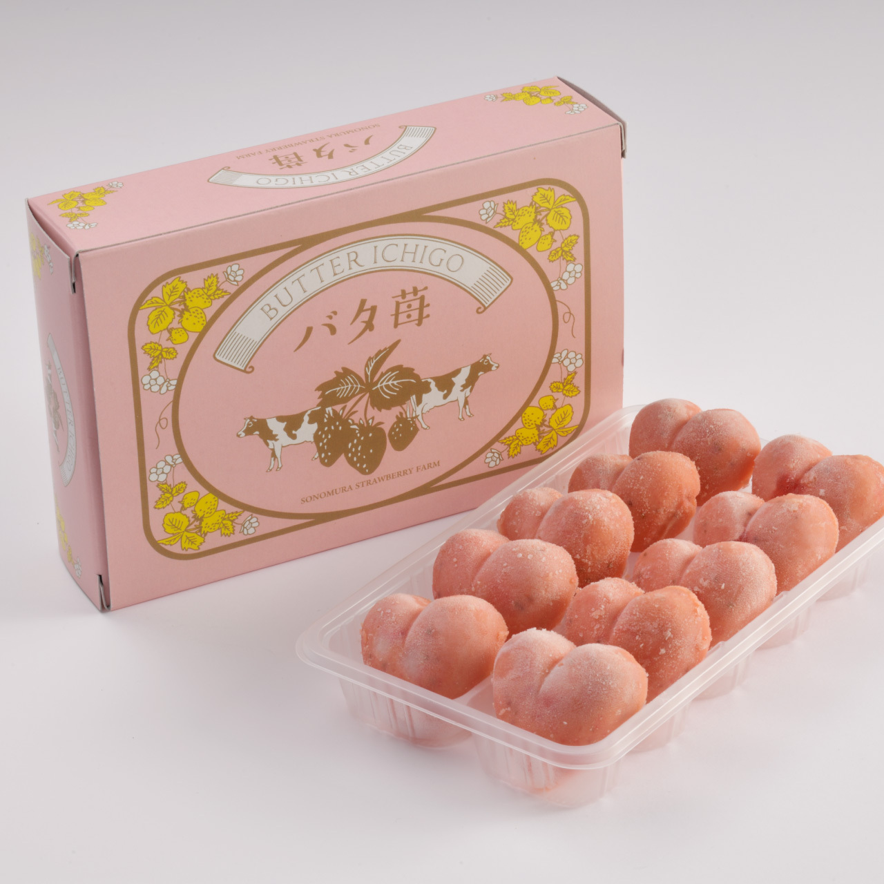 冷凍いちごバター 「バタ苺」10個入り