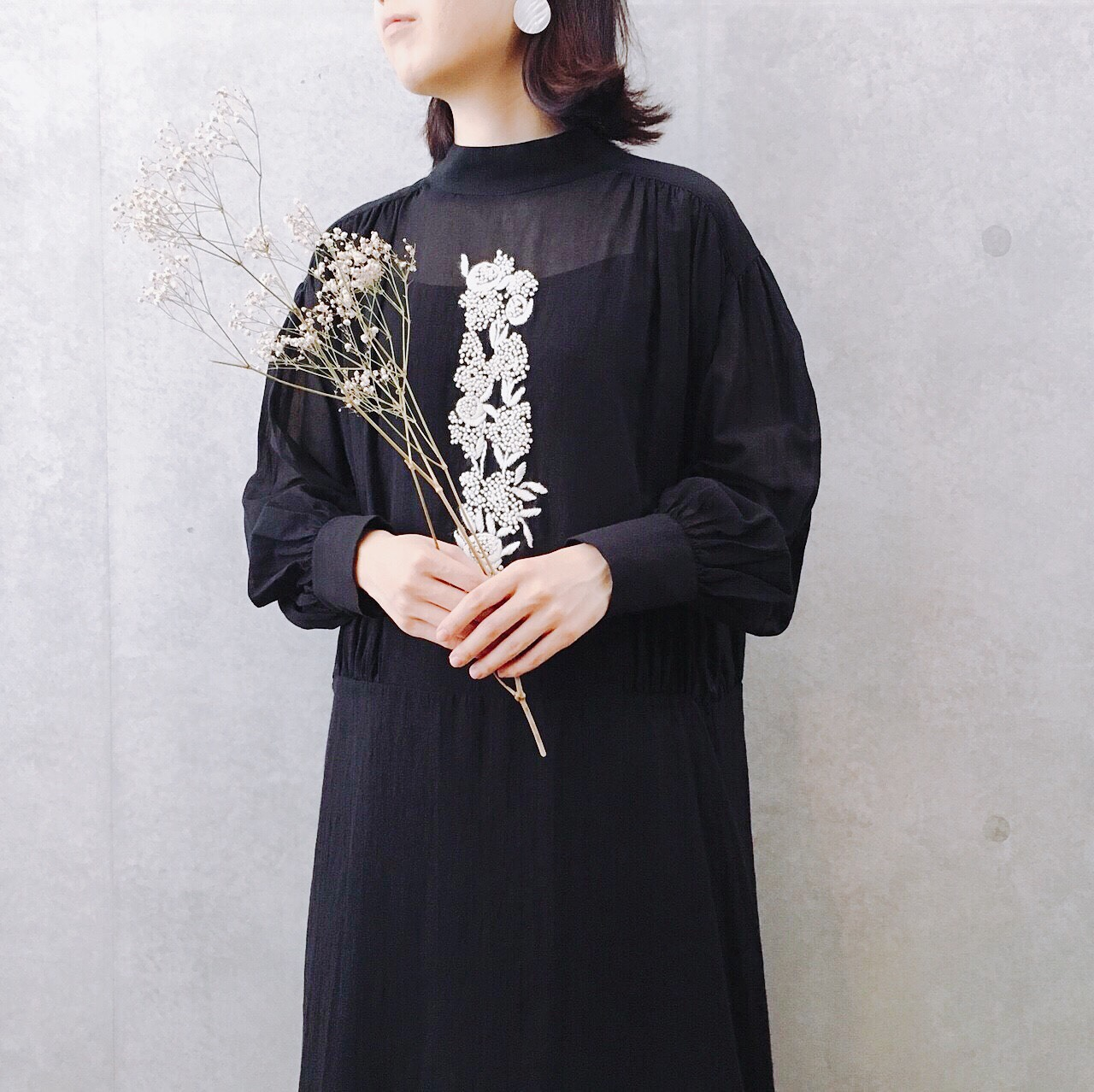 nesessaire French knot embroidery dress