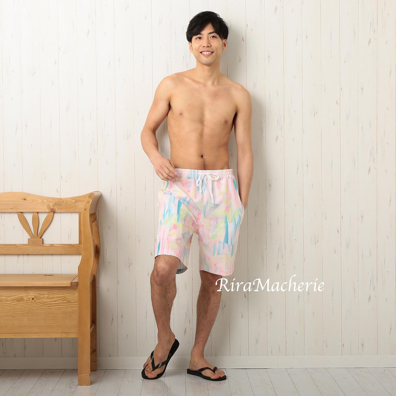 SALE【メンズ】サーフパンツ ピンク