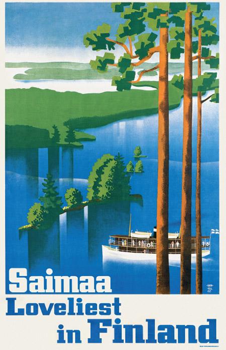 ポストカードL 12x18cm 「サイマー湖の眺め」