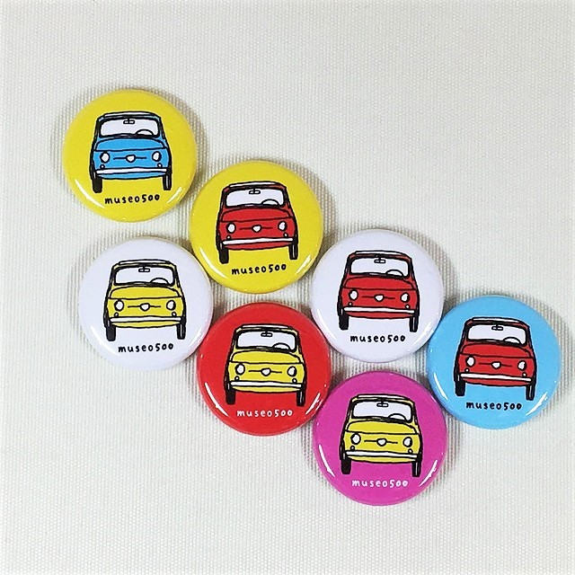 FIAT500 Steel badge【1個】【税込価格】