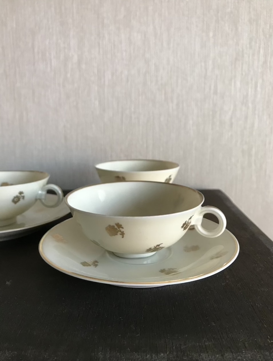 Paris 1940年代 リモージュ焼きのテーカップ&ソーサー