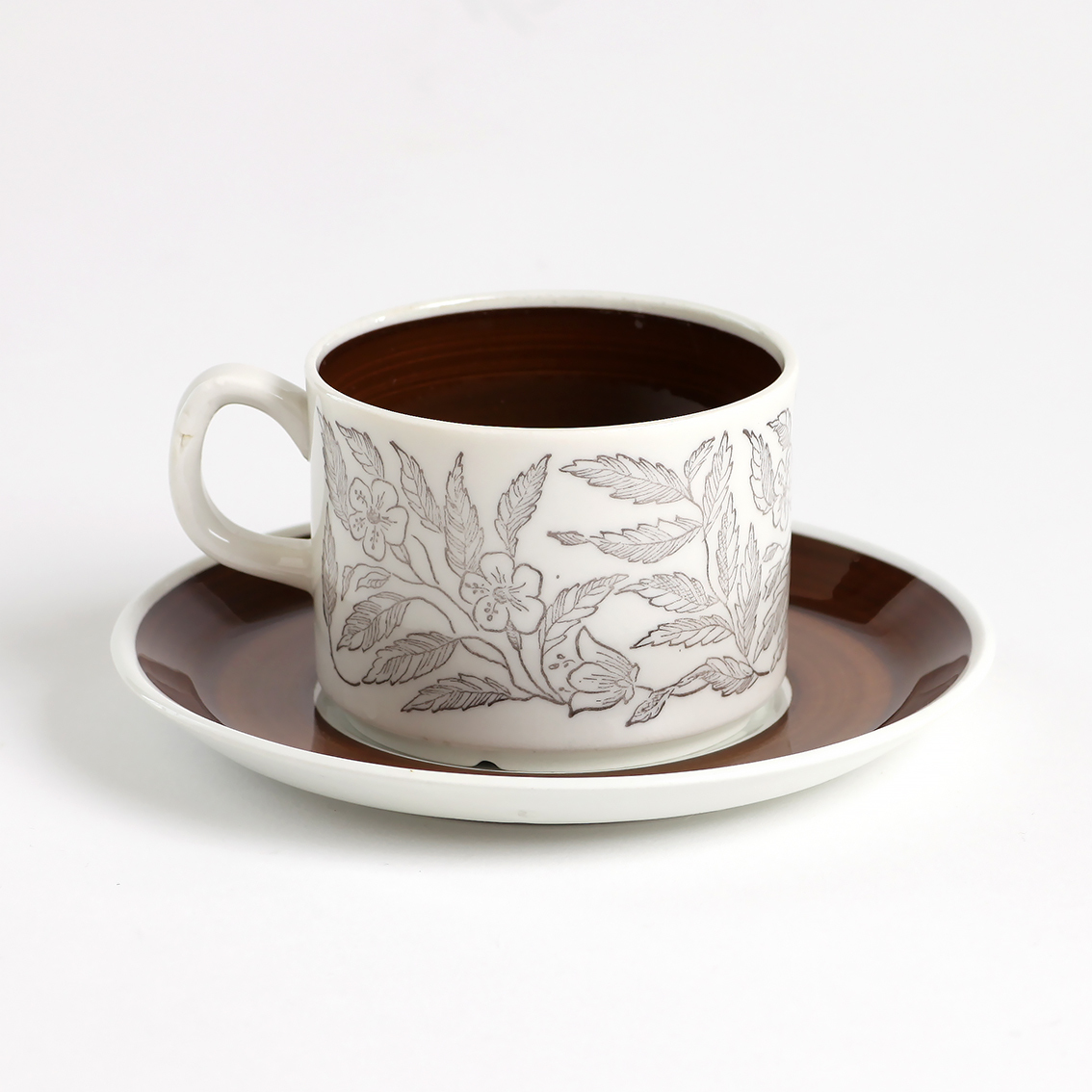 GEFLE ゲフレ Fontana フォンタナ コーヒーカップ&ソーサー - 7 北欧ヴィンテージ ★わけあり★