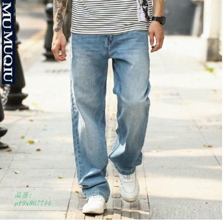 ビッグシルエット 大きいサイズ メンズ 無地 ストレート バギーパンツ 履き心地 ワイドパンツ ジーンズ ゆったり 長ズボン デニムパンツ