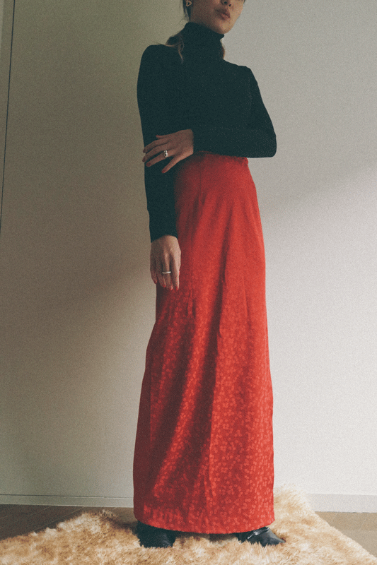 GUNNE SAX red skirt