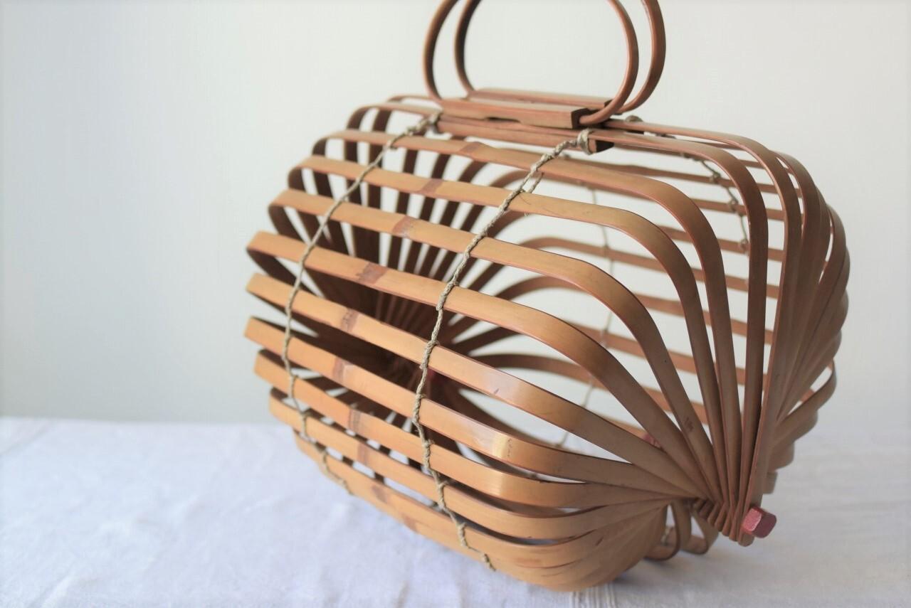 竹のかごバッグ