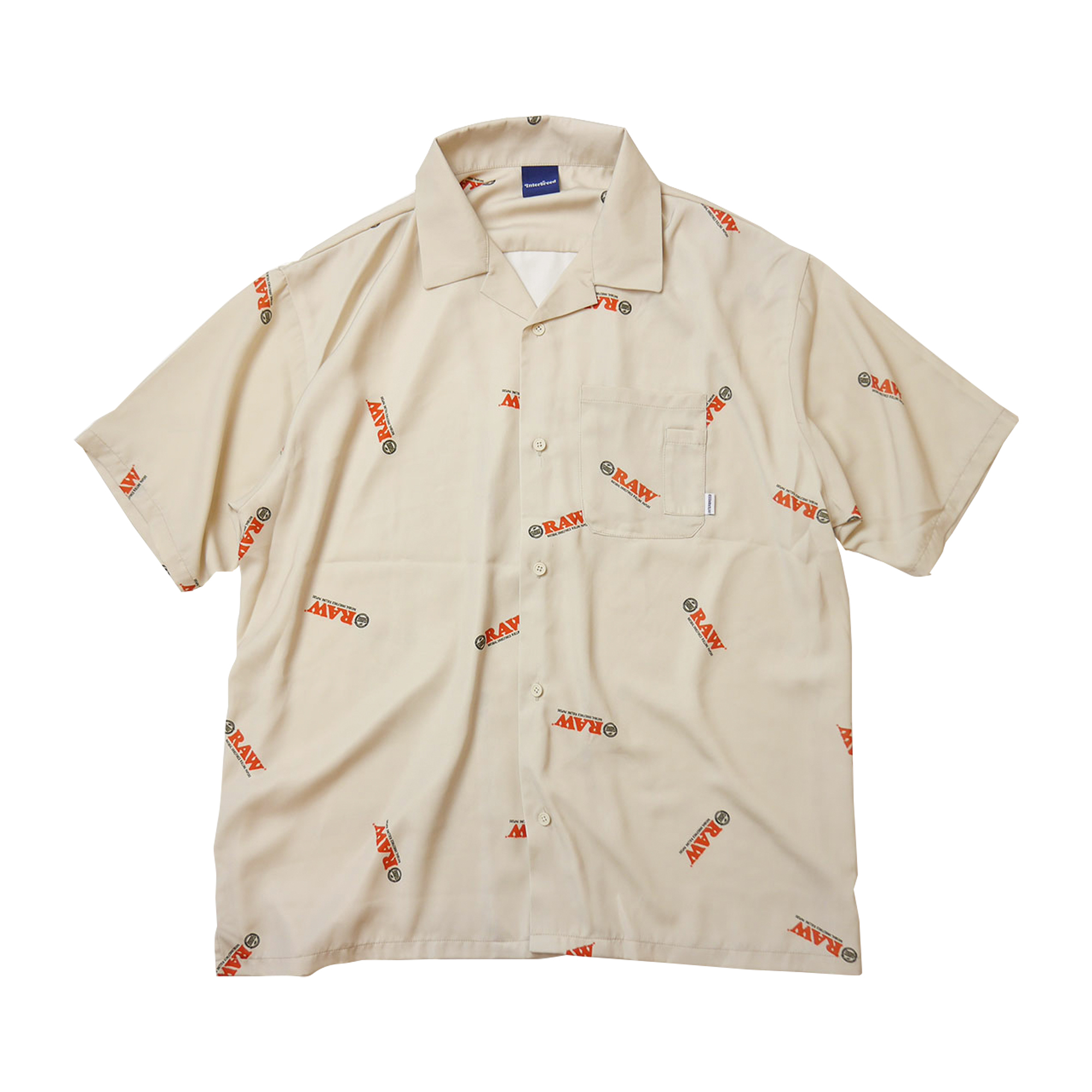 INTERBREED RAW Rolling Papers Shirts BEIGE