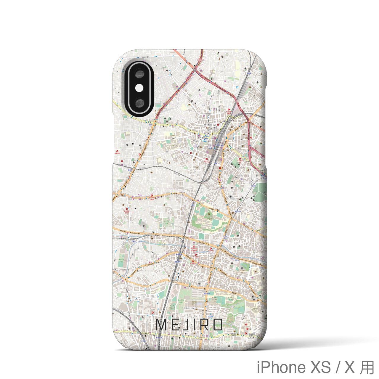 【目白】地図柄iPhoneケース(バックカバータイプ・ナチュラル)