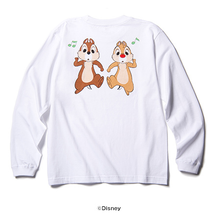 CHIP 'N' DALE ROCK AND ROLL LONG SLEEVE T チップとデール ロックンロール ロングスリーブT / rockin'star ( ロッキンスター )