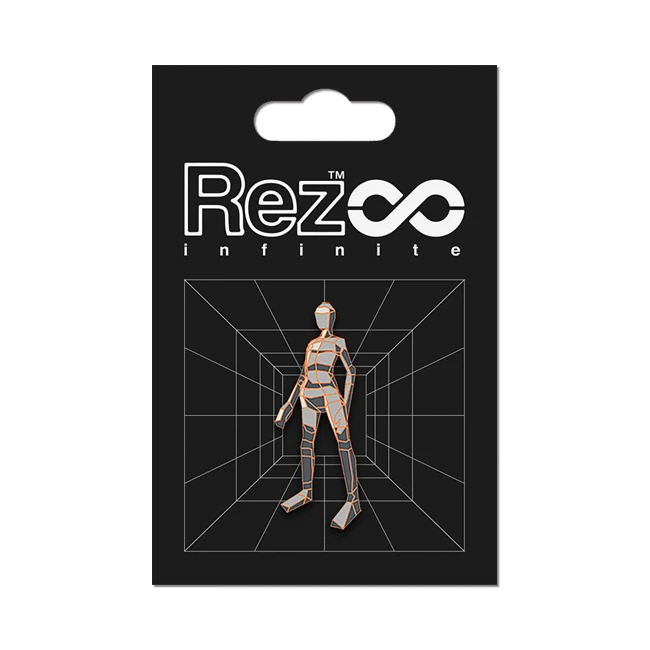 REZ INFINITE LEVEL 03 PLAYER FORM ピンバッジ  / iam8bit
