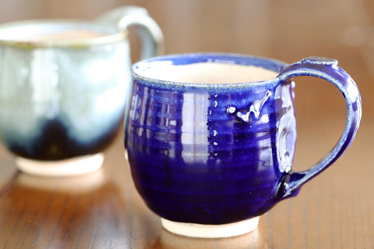 紫香楽瑠璃釉 マグカップ 作:谷井芳山・谷寛窯(信楽焼)