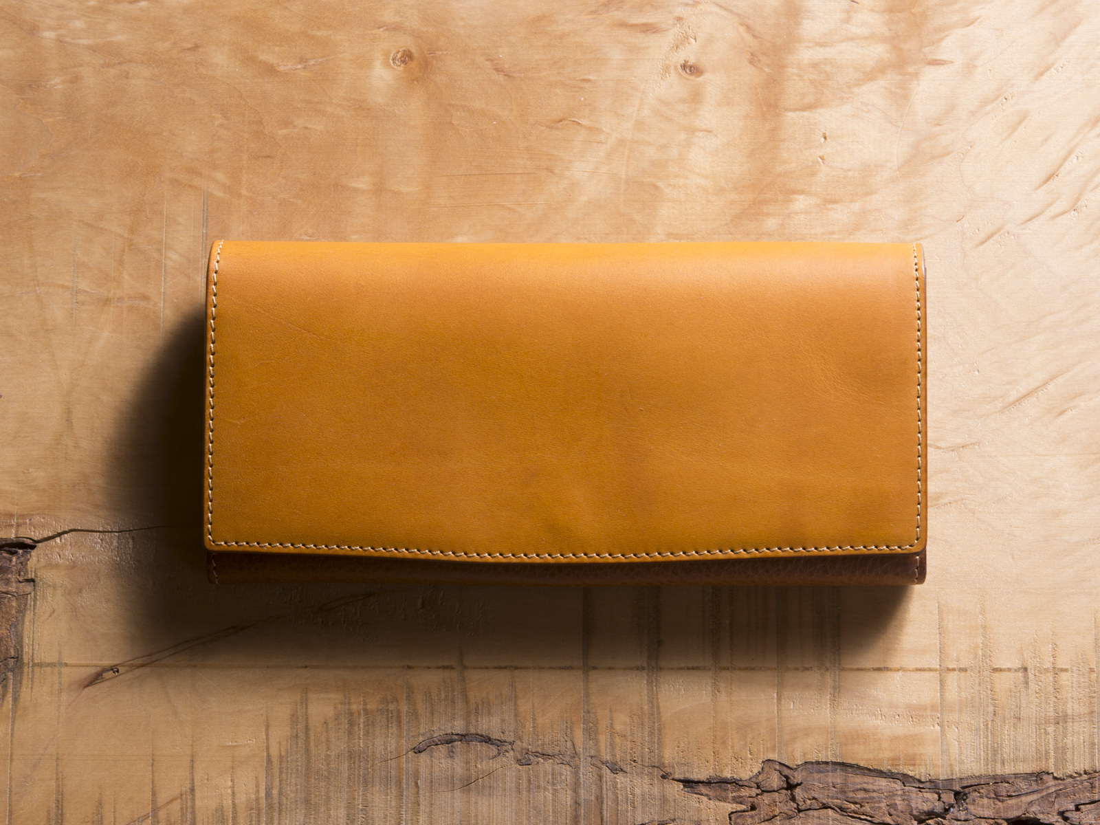 Basic Long wallet #マスタード
