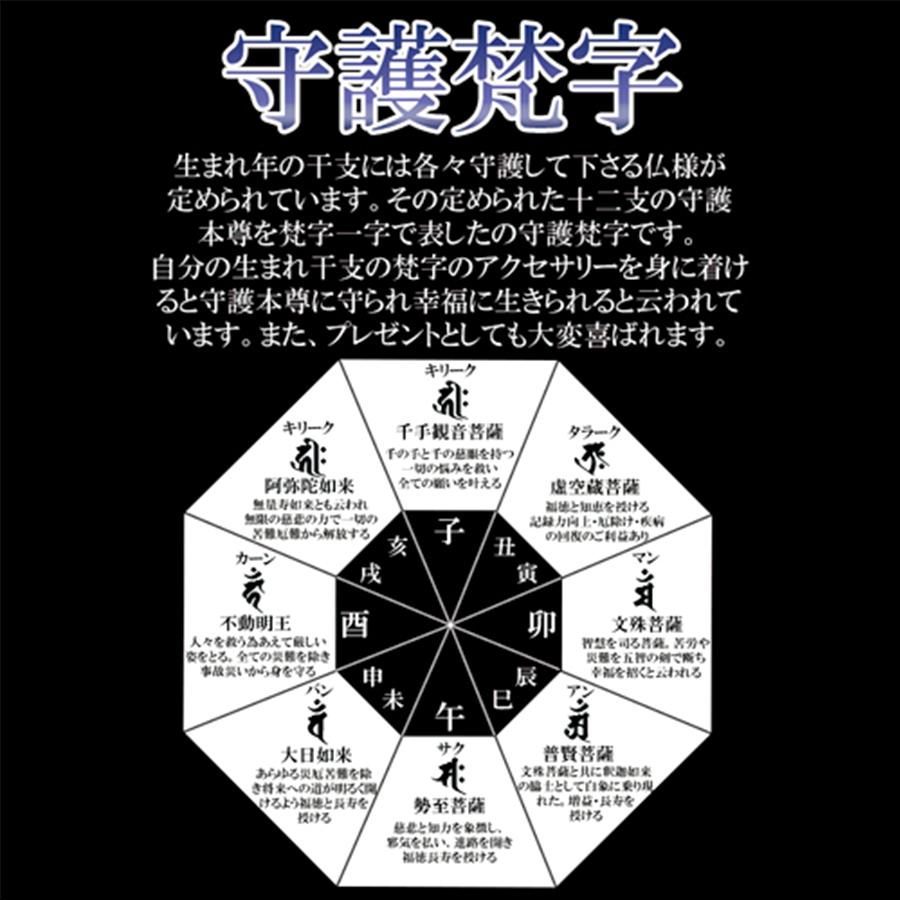 【願望実現】守護梵字10パワーストーンブレス(12mm)
