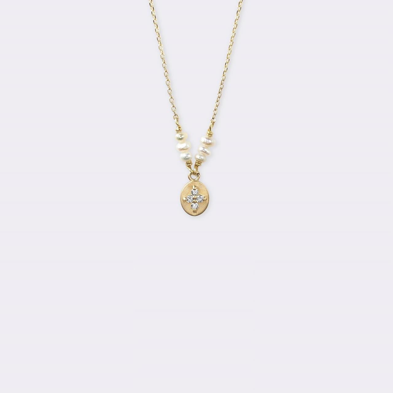 Petal Necklace K18YG(ペタルネックレス K18イエローゴールド)