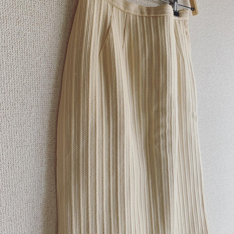 【SALE】vintage off-white box skirt