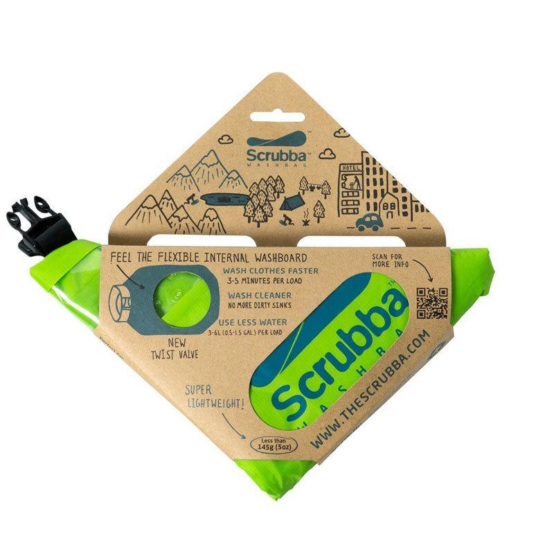 スクラバ ウォッシュバッグ グリーン Scrubba Wash Bag