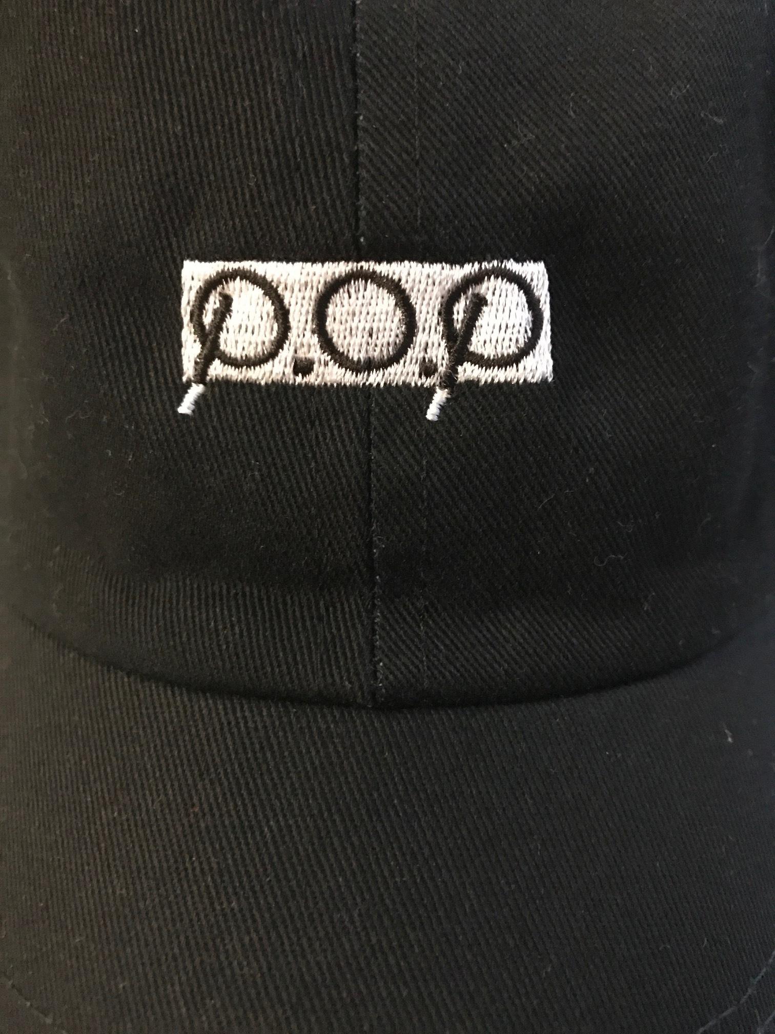 P.O.P CAP ブラック - 画像1