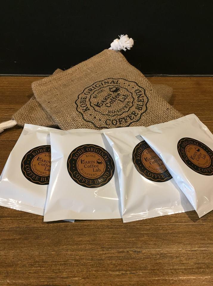 花梨ブレンドマイルドコーヒー 珈琲麻袋入りドリップバッグ8pセット