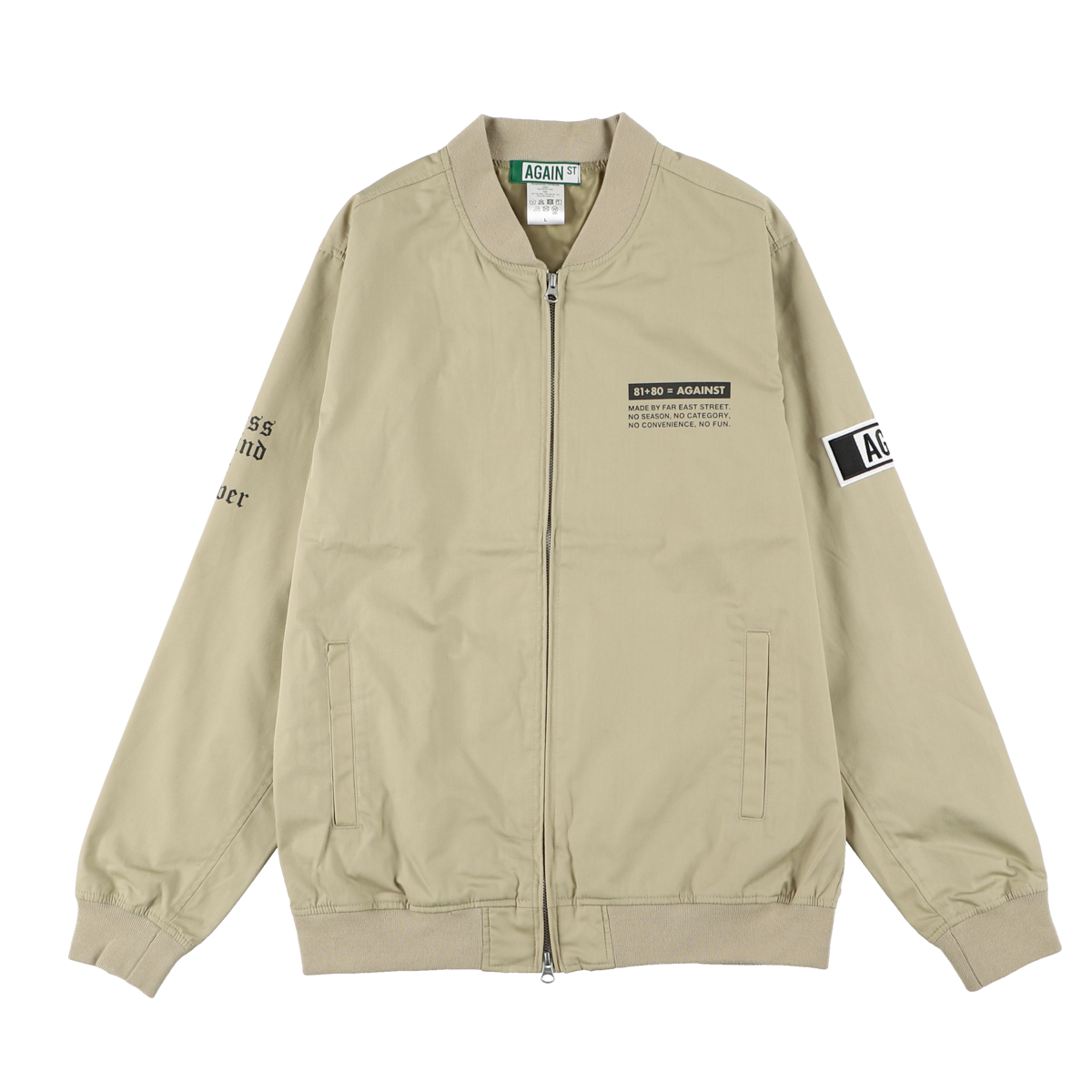 AGAINST Crew Jacket/ BEIGE