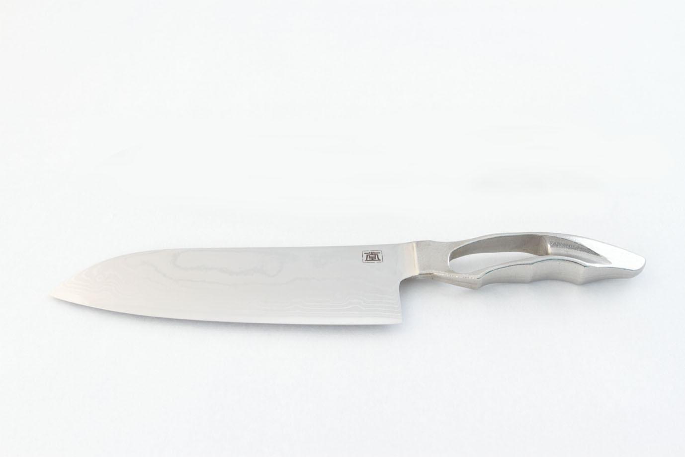 包丁 磨 三徳170mm ダマスカス