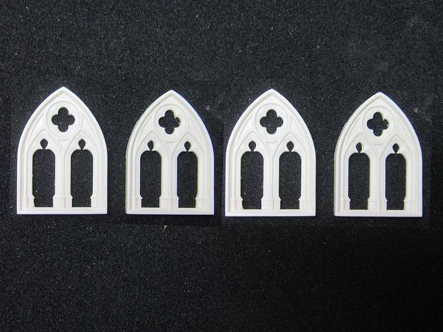 ゴシック様式の大窓(4個セット) - 画像4